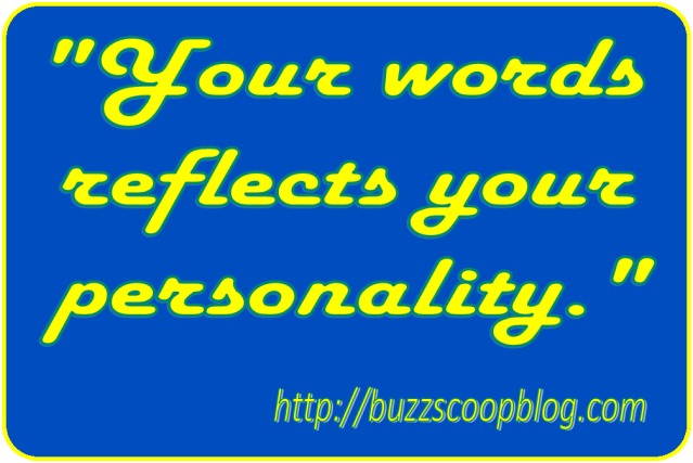 your-words-reflects-your-personality